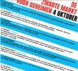 menukaart Zwarte markt voor geheimen