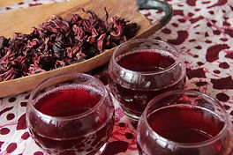 bissap (hibiscus ice-tea) is héél lekker én héél gezond!