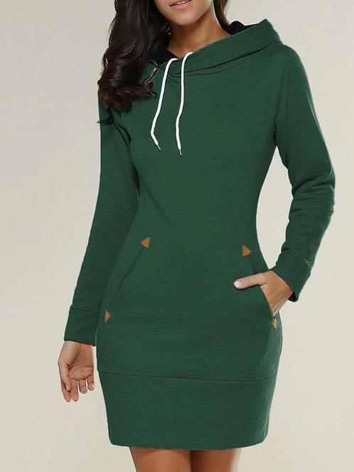 Elite Special Women Drawstring Fleece Pullover Hoodie Sweatshirt
