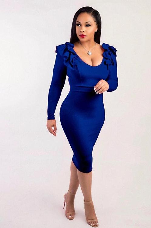 Blue Modern High Quality Party dress