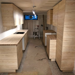wooden IKEA kitchen