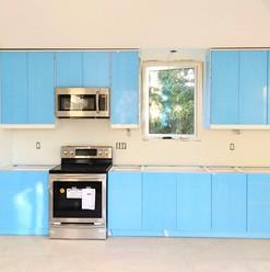 light blue ikea kitchen