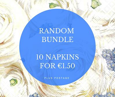 Random Bundle - 10 Christmas themed Napkins