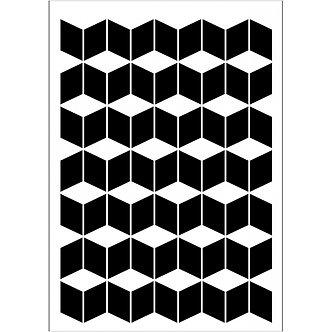 Modern Tile, A5 Daily Art Stencil