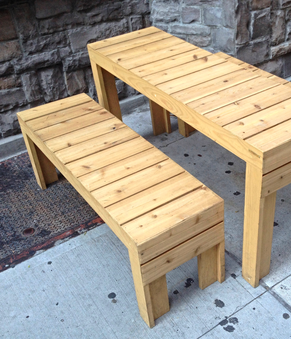 """Red Cedar """"Pinic"""" Style Table"""