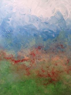 landscape abstract acrylic harp music