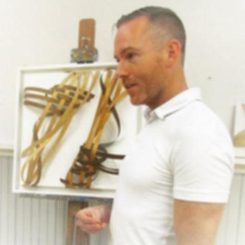 joseph dermody giving artist talk at Rowayton art center