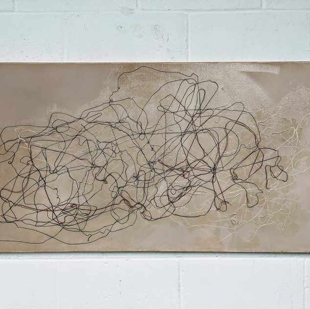 24x48 Acrylic + String