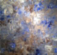 blue white abstract acrylic painting award winning