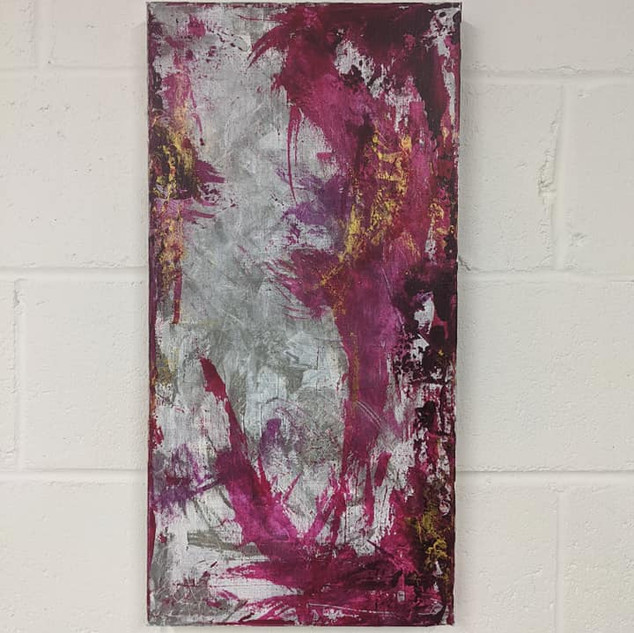 12x24 Acrylic Brushwork (SOLD)