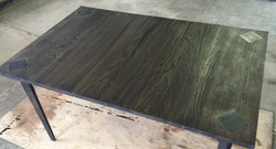 Ebony Oak with Inlaid Metal Accents