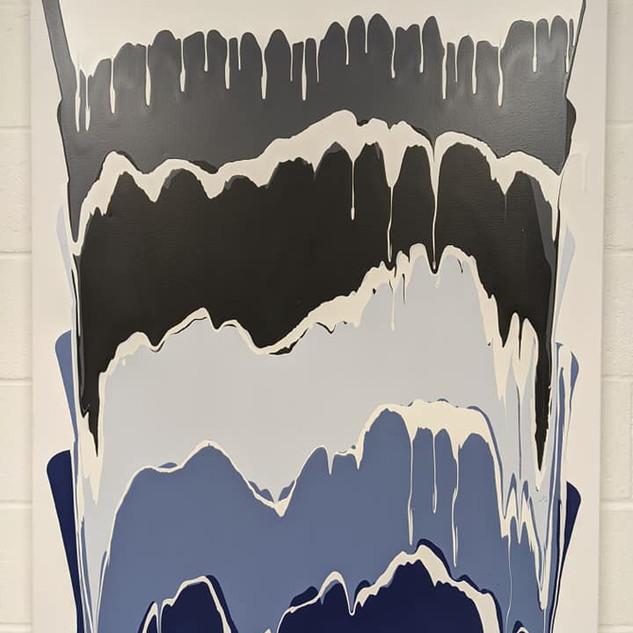 36x48 Poured Acrylic