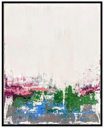 Awakening acrylic abstract painting