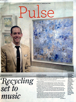 Front page newspaper article