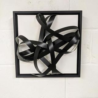 12x12 Black Melamine Sculpture (SOLD)