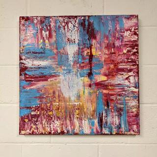 24x24 Acrylic Brushwork