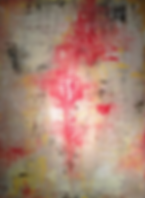 red yellow abstract acrylic painting greenwich