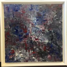 24x24 framed $375