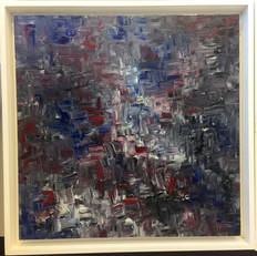 24x24 framed $1800
