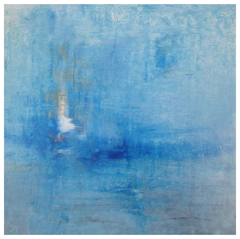 Greenwich Artist Joseph Dermody nostalgie print blue grey abstract painting expensive and valueable