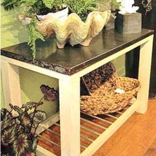 36x20x30 Garden Table. Recycled meta top over Douglas fir base. $150