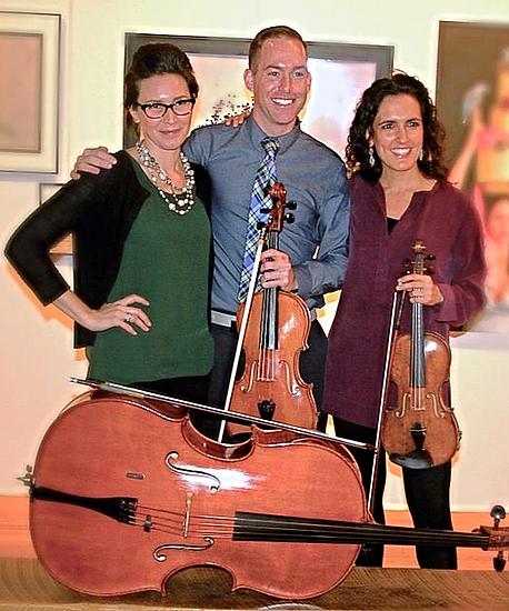 Greenwich Artist Joseph Dermody Scape Trio Nicole Sharlow Adriana Pera Carriage Barn Art Center
