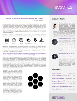 Rosotics One Pager