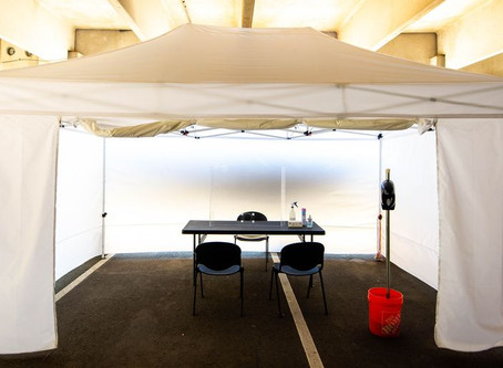 Wellmore sets up outdoor tents to allow for in-person therapy sessions