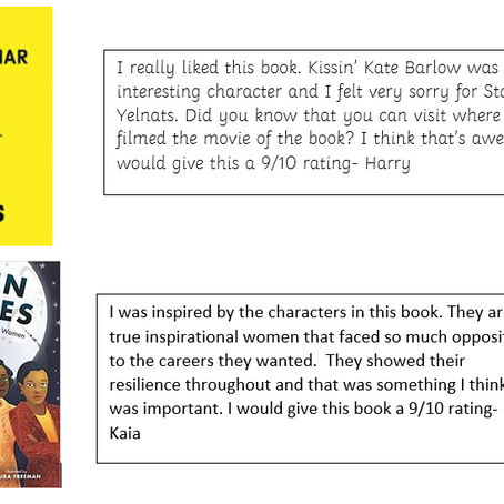 Our reading reviews