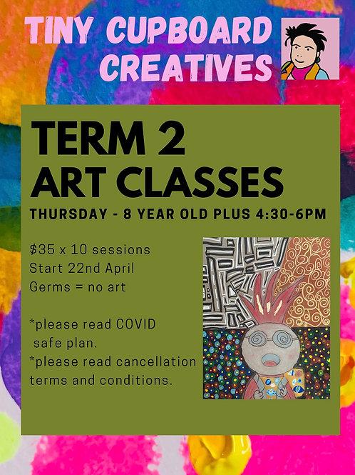 8 yo + art classes Thursday Onsite | 10 Sessions