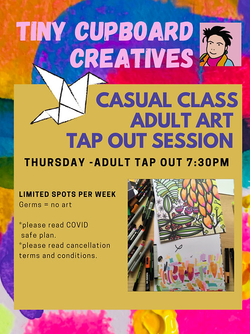 Adult Tap Out art classes Thursday Onsite | 1 Session