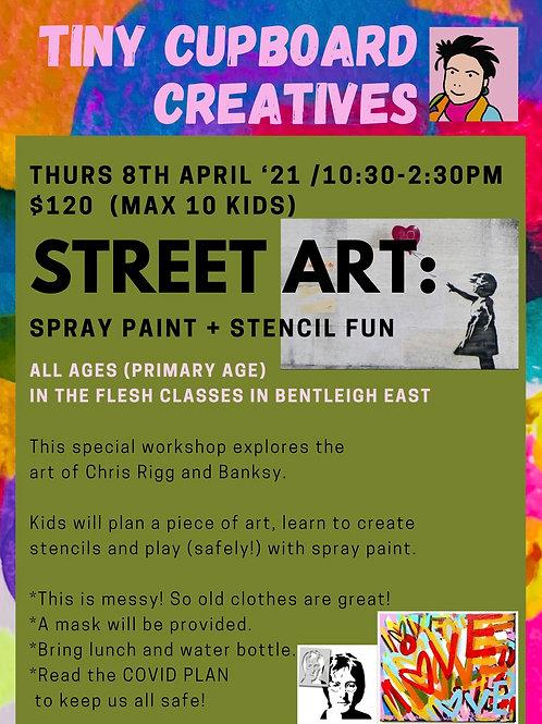 Thu 8/04 Street Art Workshop Primary School Age