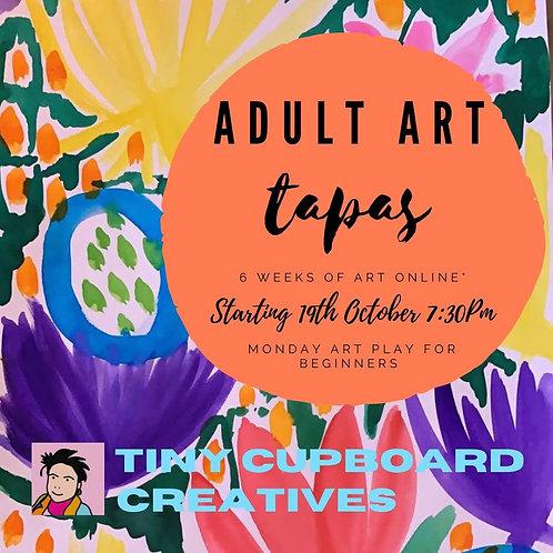 Adult art tapas Monday | 6 Sessions