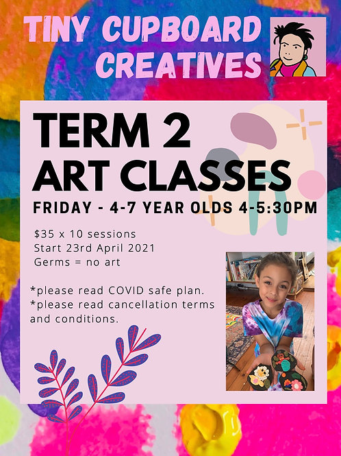 4-7 yo art classes Friday Onsite | 10 Sessions