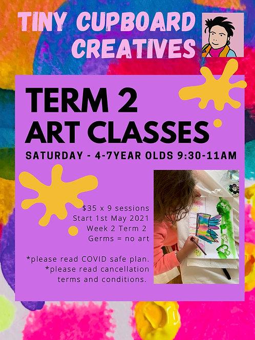 4-7 yo art classes Saturday Onsite | 9 Sessions