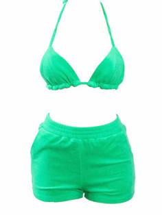 Terry  bikini short set