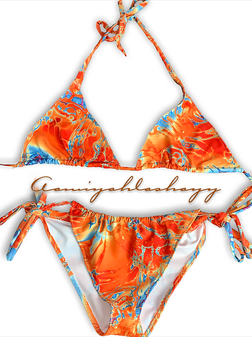 """Orange sea"" bikini"
