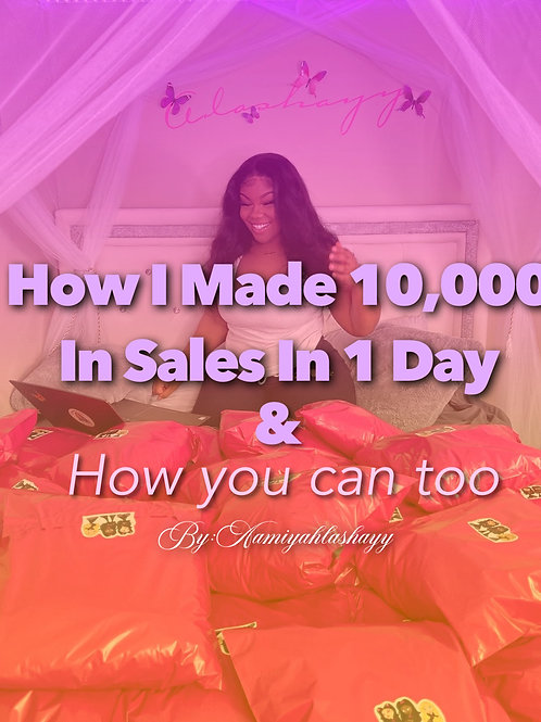 How I made 10k in 1 day !