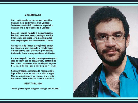 Poesia transmitida por Renato Russo, em sessão pública de quinta feira dia 25 de junho de 2020.