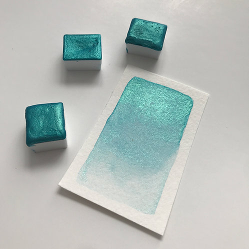 Magic Turquoise - Half Pan Mica Watercolor