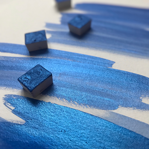 Night Blue - Half Pan Mica Watercolor