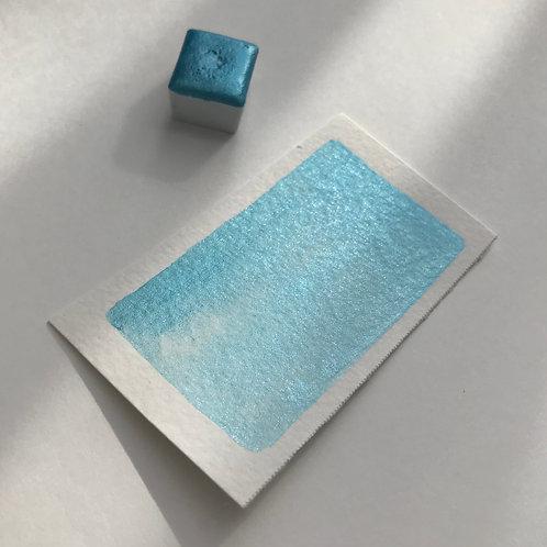 Ocean Blue - Half Pan Mica Watercolor