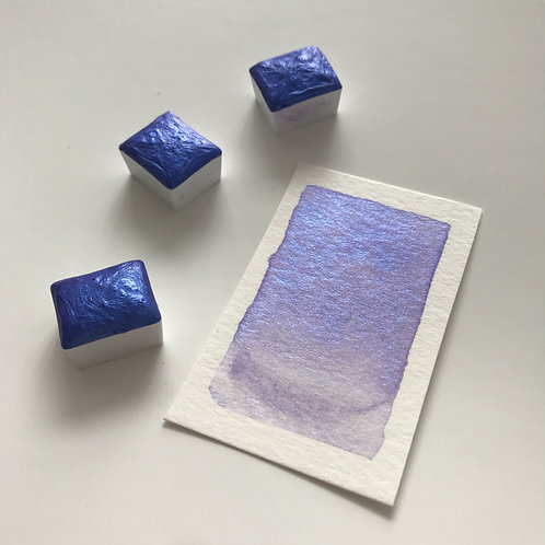 Lilac Blue - Half Pan Mica Watercolor