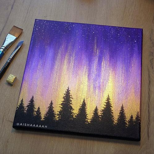 "Magical Northern Lights 10 x 10"""