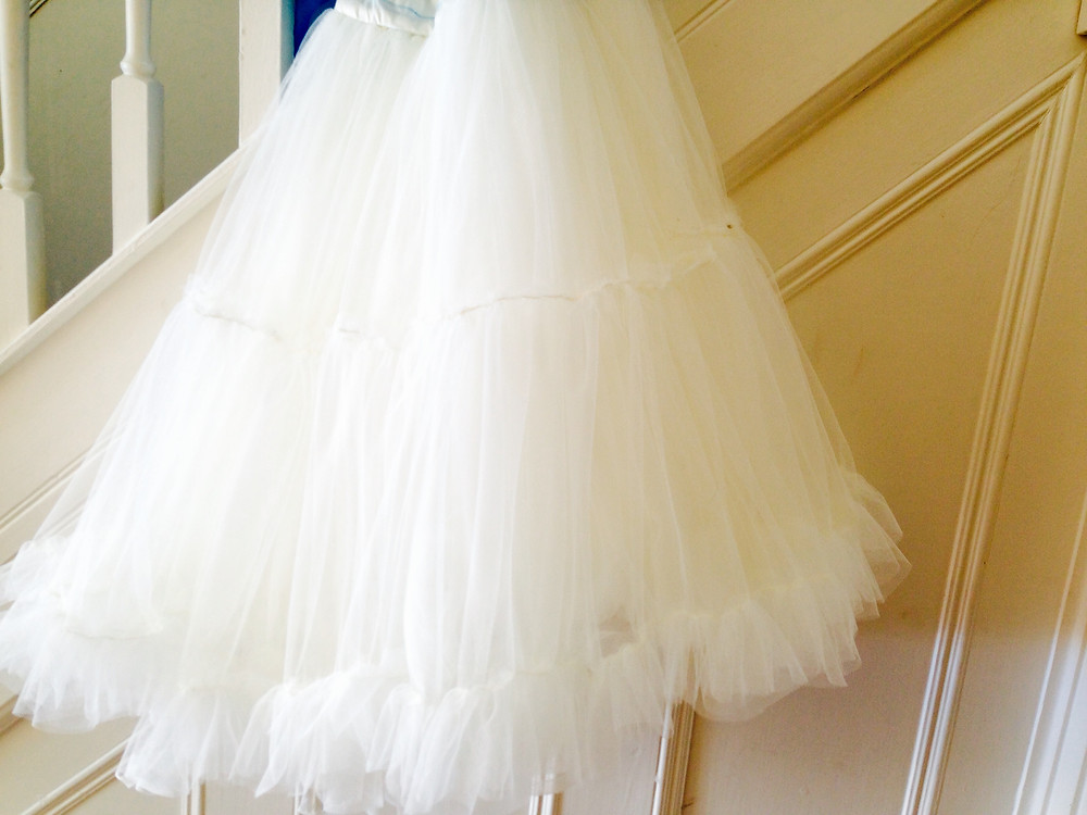 Cinderella dress underneath petticoat