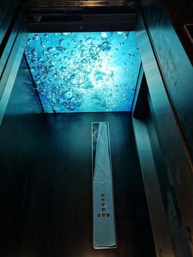 Lichtdecke Aufzugskabine