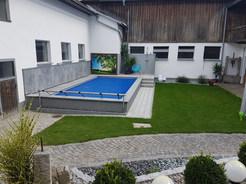 Lichtwand Pool outdoor