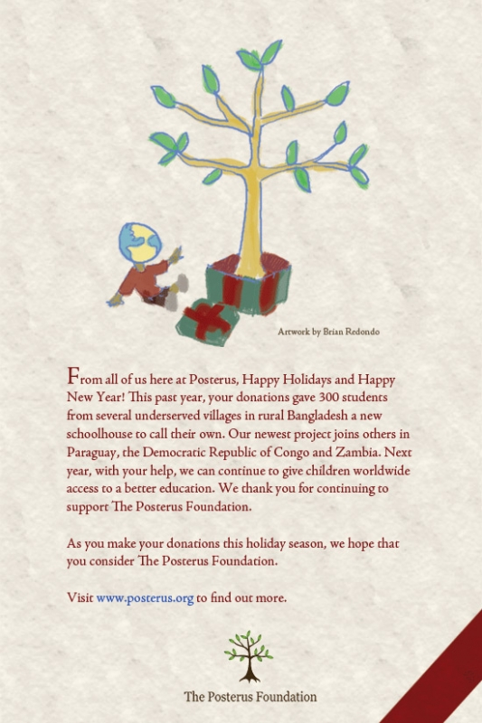 Posterus holiday e-card