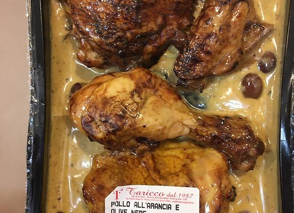 Pollo in salsa di arancia e olive nere   500gr