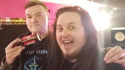 Iain Edge with Matt